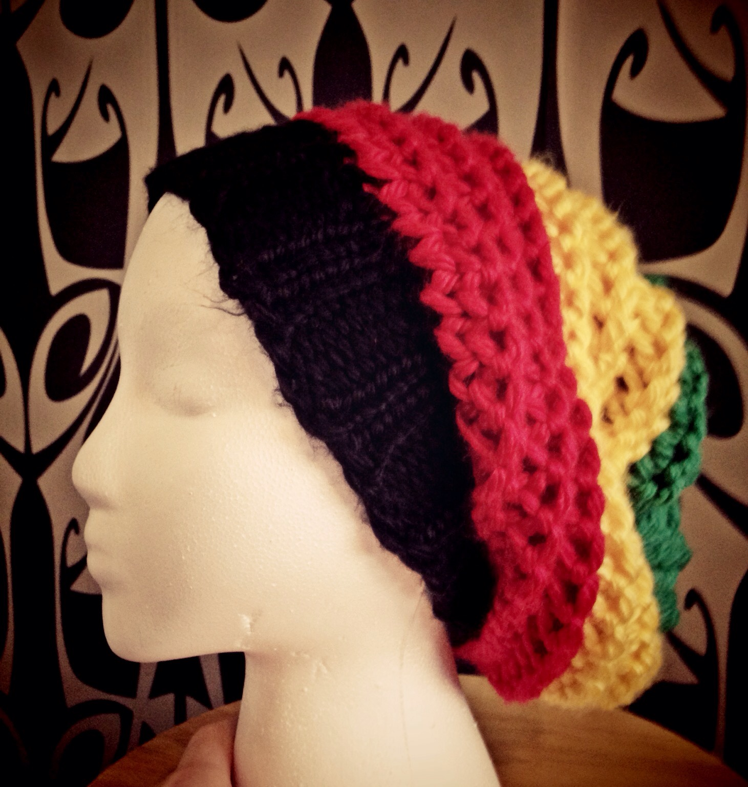 Bob Marley Hat. I made this one for a friend. I used some extra bulky yarn  and modified this pattern. Now I have to see if I can make one with a visor  brim. 26446467b71