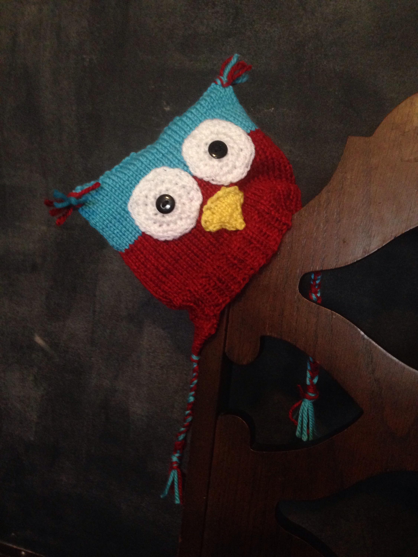 Loom Knit Owl Hat